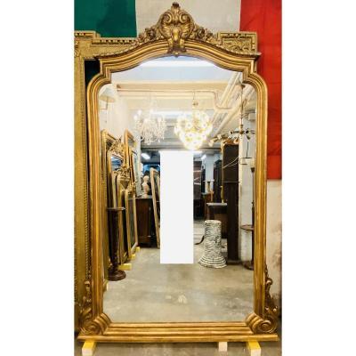 Grand Miroir Louis XV En Bois