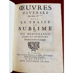 Boileau Oeuvres Diverses
