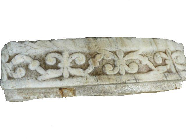 Frise en marbre provenent chatedral d'Arles Sur Tech