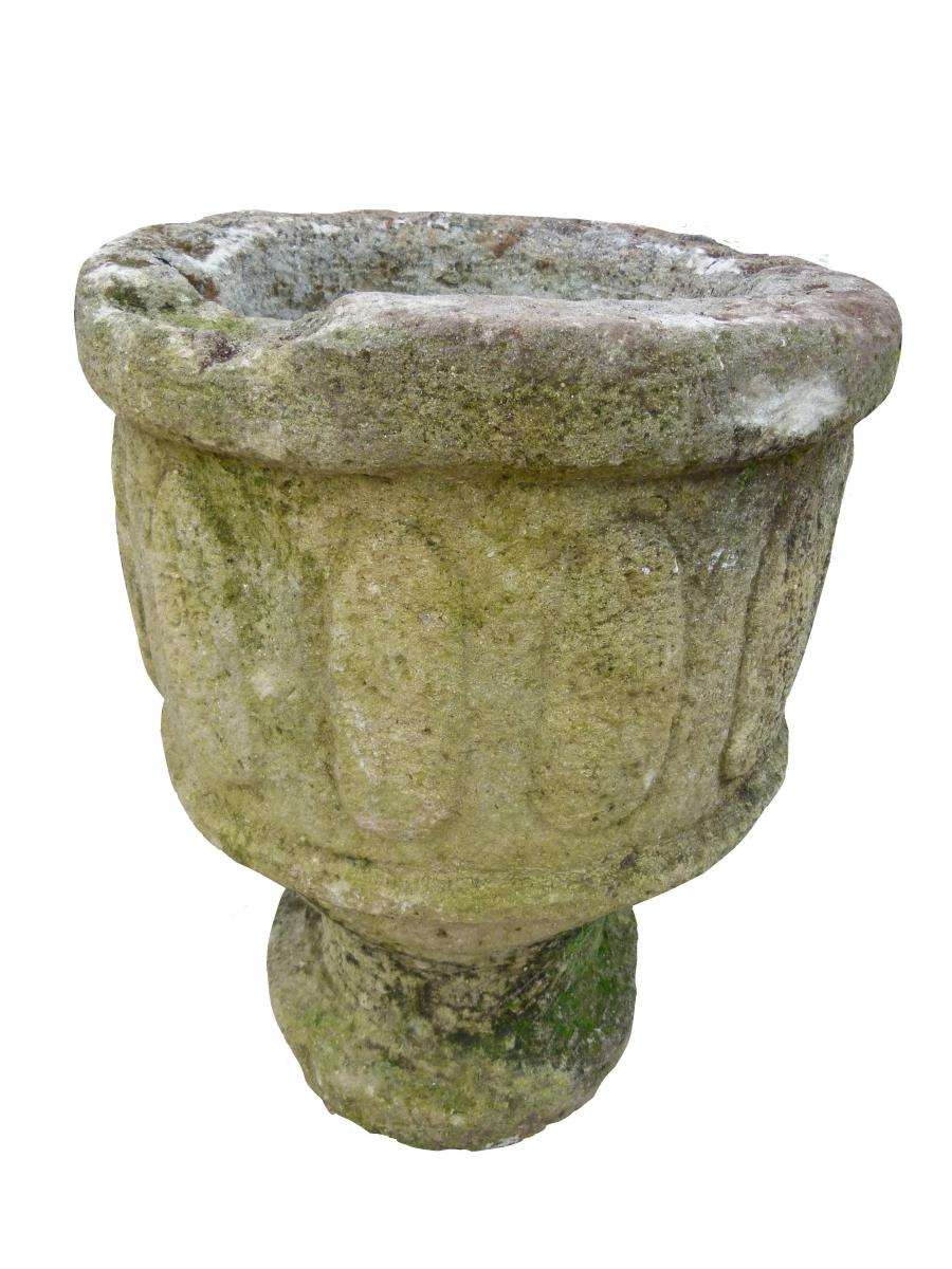 Pair Of Limestone Cups