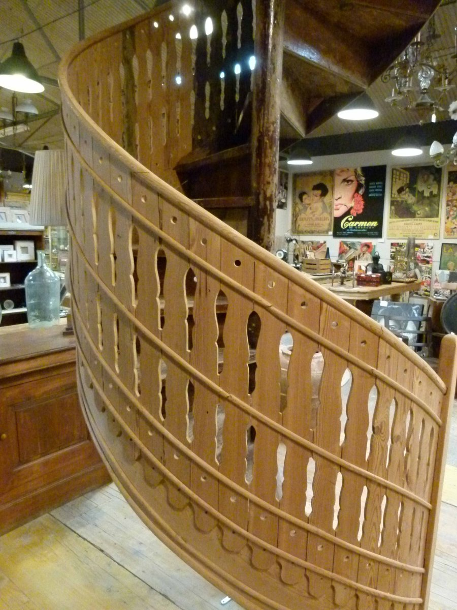 Wood Spiral Staircase-photo-1
