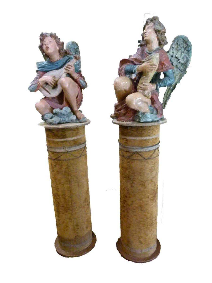 Pair Of Fugures In Terracote