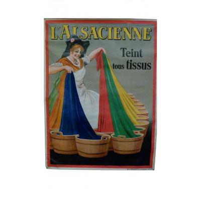 Grand Affiche l'Alsacienne DE DORFI