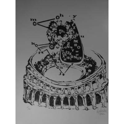 Lithographie De Salvador Aulestia La Fiesta De Los Toros
