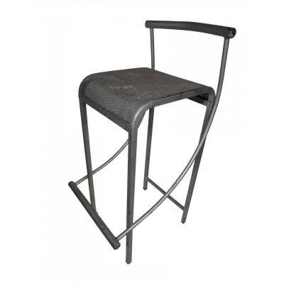 Set Of Three Iron Bistro Stools