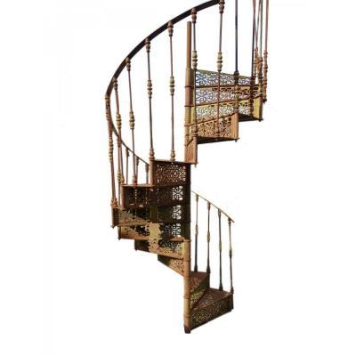 Escalier Colimaçon En Fonte De Fer XXeme