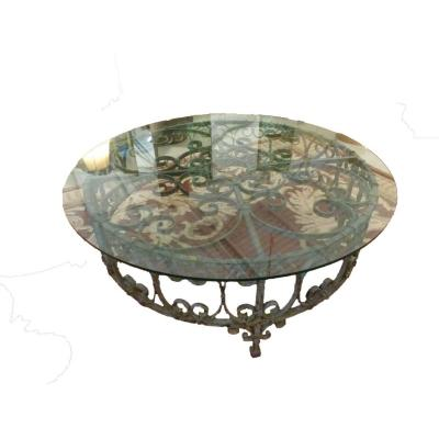Table Base en  Fer Forgé  XIXème