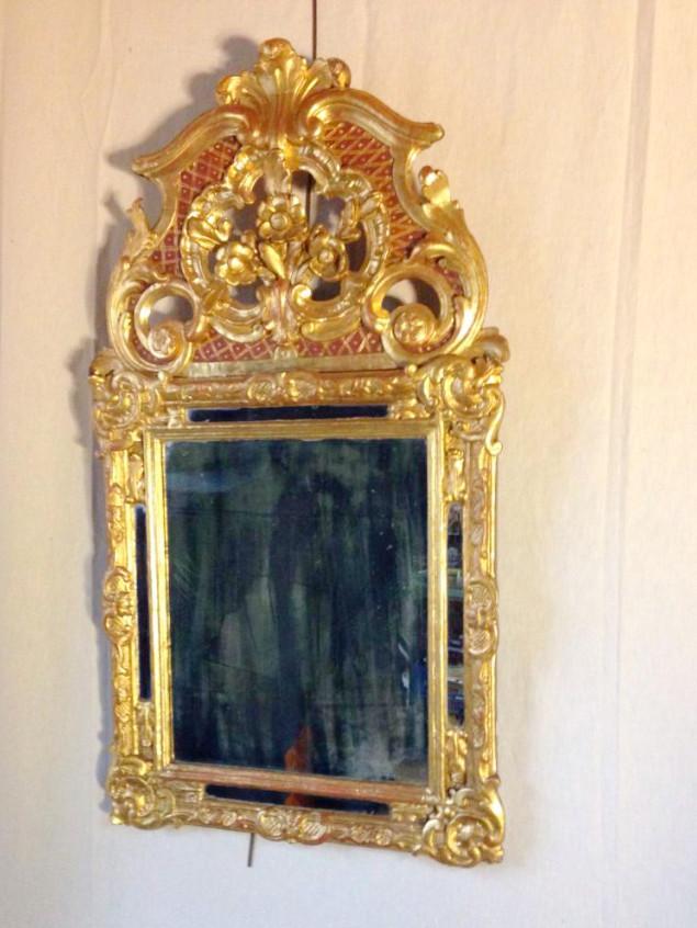 Miroir en bois dore xviii miroirs for Miroir xviii