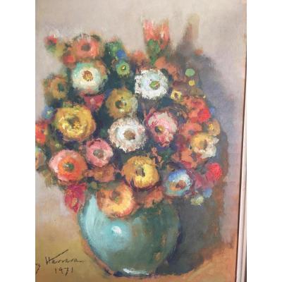 José Cruz Herrera Hst  Bouquet De Fleurs