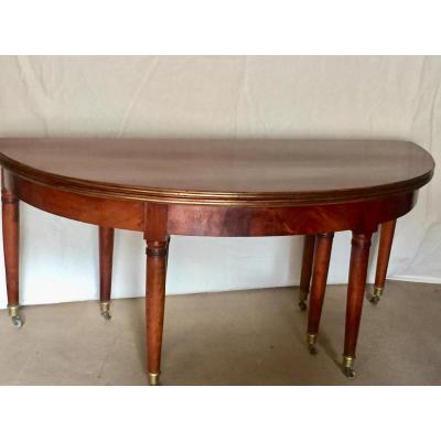 Table Walnut Eight Feet Directory End XVIII Eme