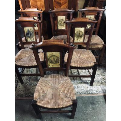 Directoire Chairs Painted Boards