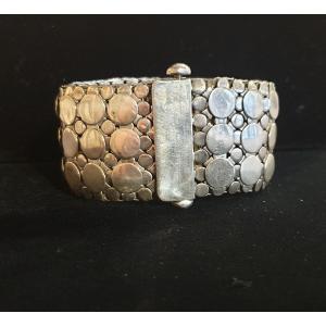 Bracelet Manchette Articulé En Argent