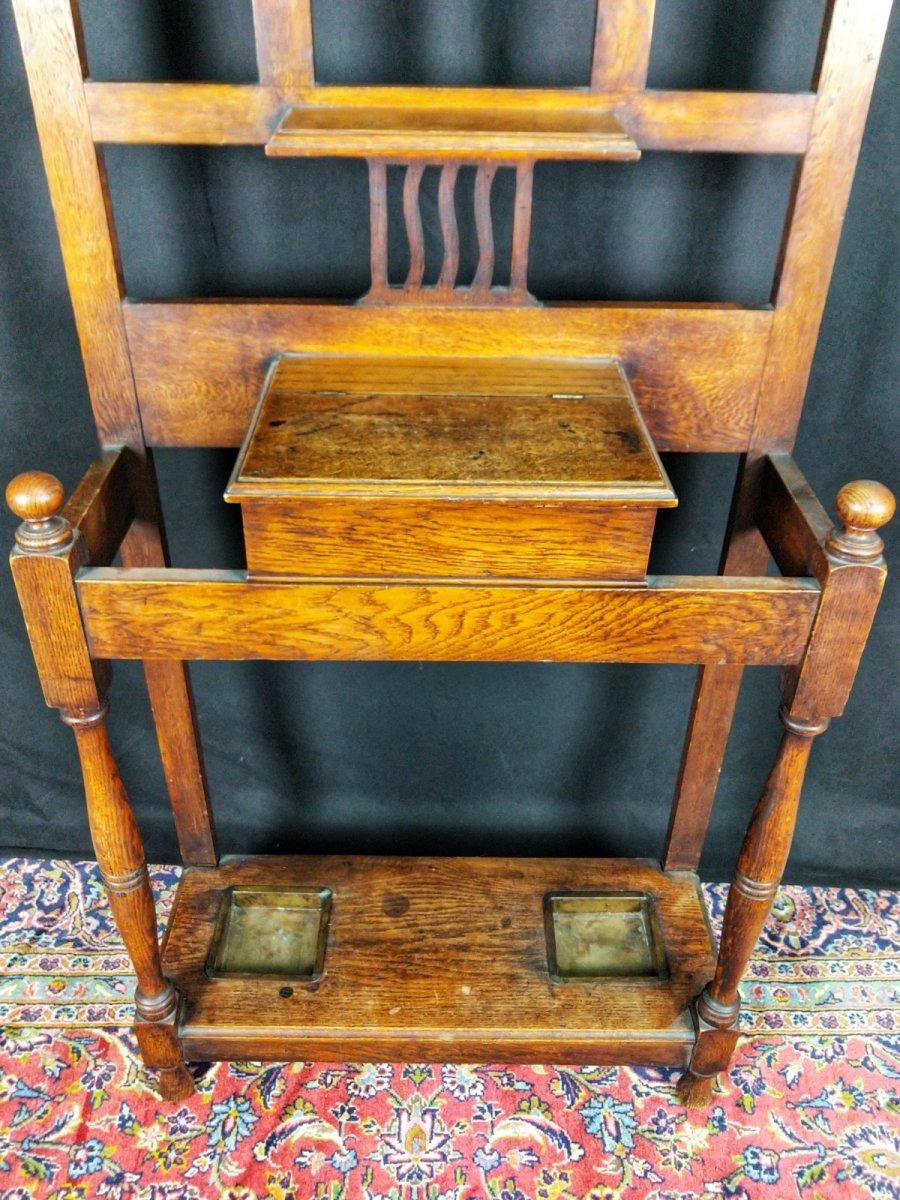 20th Century Art Nouveau Oak Coat Rack