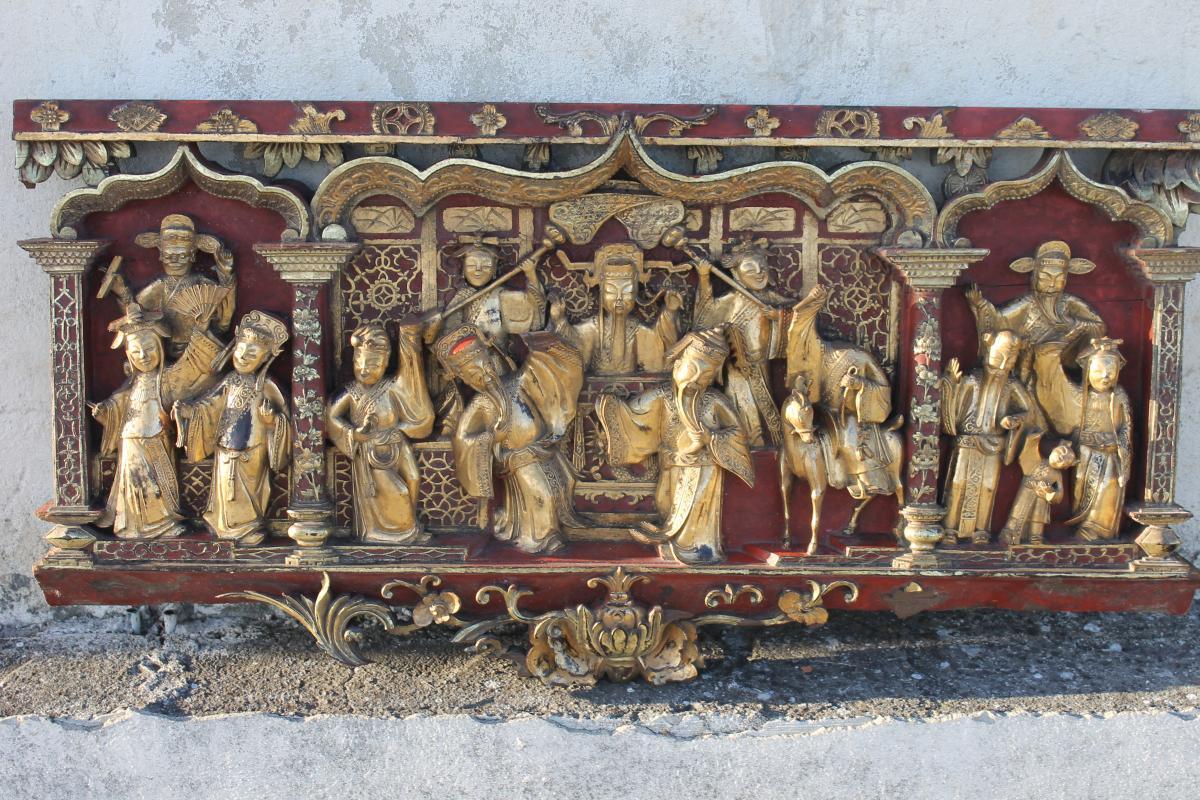 Panneau De Boiserie Sculpté Chine 18ème