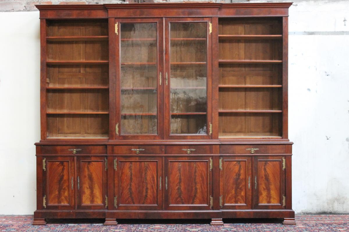 Important Library 19th Mahogany
