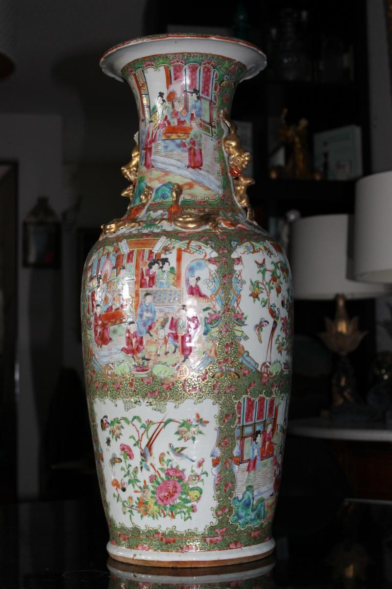 Vase Porcelaine De Canton époque 19ème