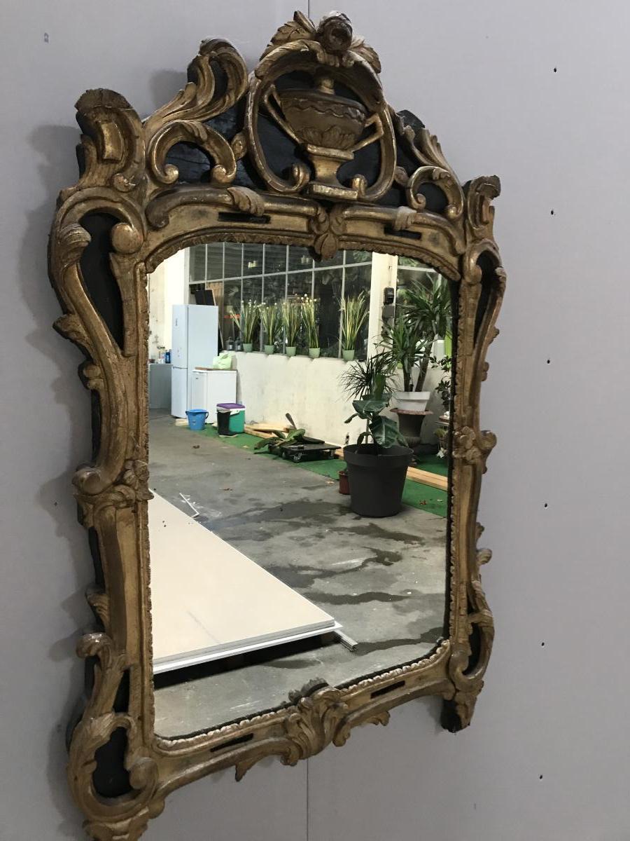Miroir Louis XV Bois Doré Dans Son Jus