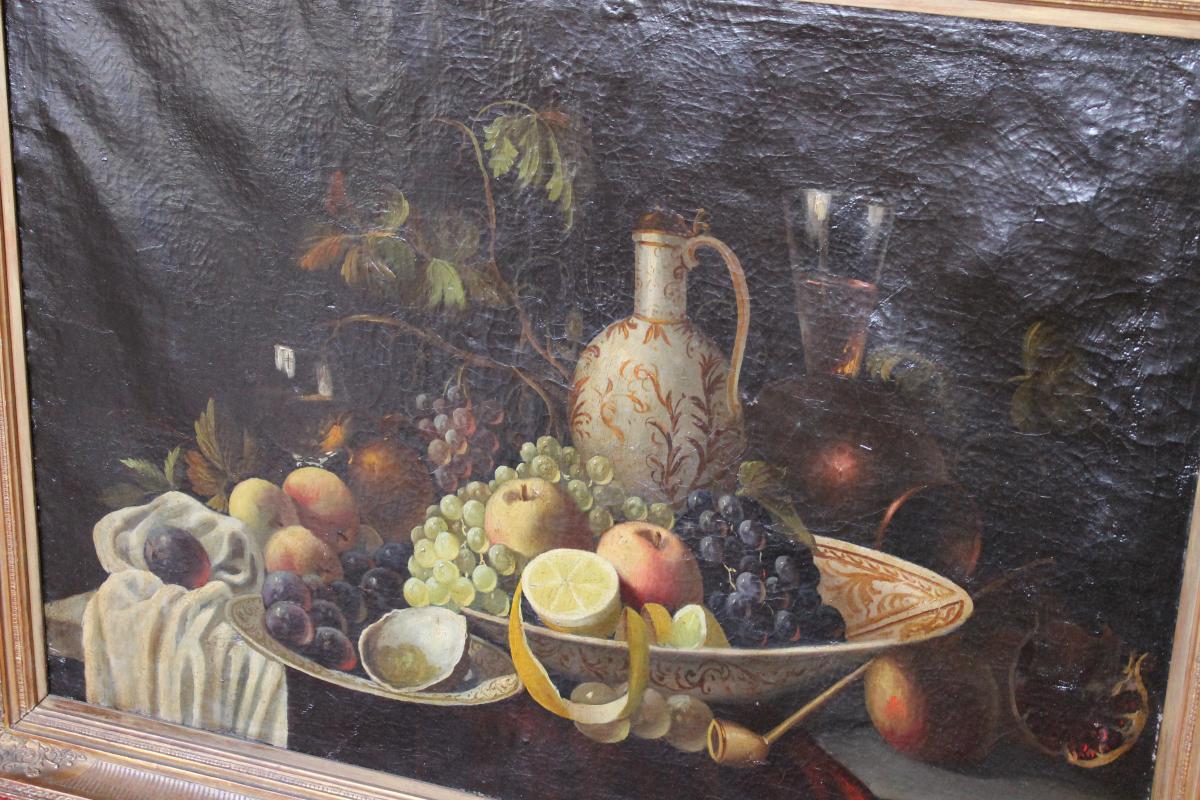 peinture l 39 huile sur toile nature morte tableaux. Black Bedroom Furniture Sets. Home Design Ideas