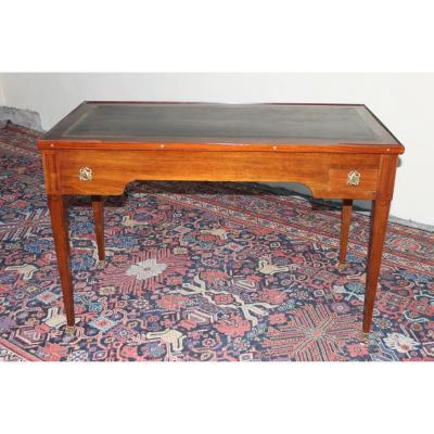 Table Tric-trac Bureau Plat En Acajou, époque Louis XVI