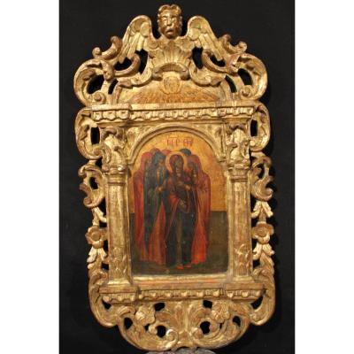 Paire De Panneaux d'Une Iconostase, école Grecque Du 18ème