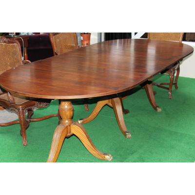 Grande Table Style Régency En Acajou, Epoque Fin 19ème