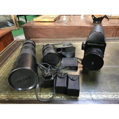 Appareil Photo Argentique Professionnel Rolleiflex SLX De 1974 avec accessoires