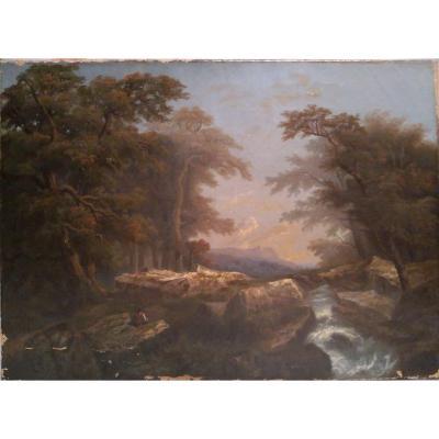 """Peinture à l'huile ancienne sur toile signée """"Tepping"""""""