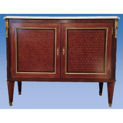 Buffet Napoleon III Richly Inlaid, Stamped, France, Paris, 19th Century