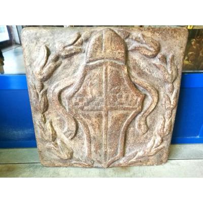 Heraldic Frieze En Terre Cuite