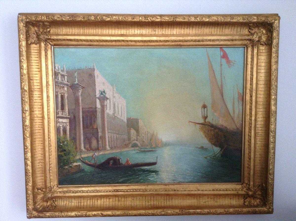 Oil On Canvas Venezia Ep XXsiecle