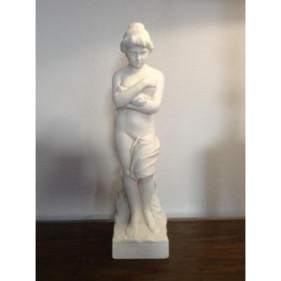 Sculpture En Marbre Blanc De Carrara