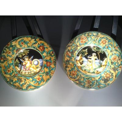 Two Majolica Dishes To Hang Italy Ep 800