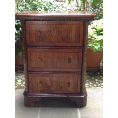 Small Walnut Cabinet Debut 18th Century Italy