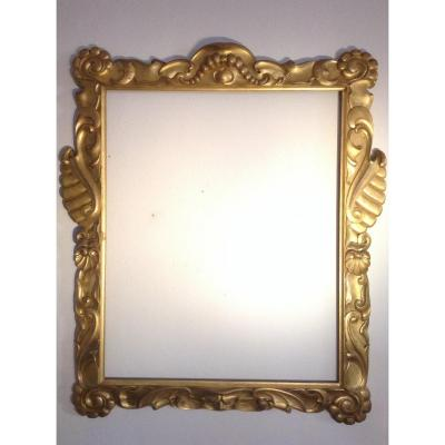 Frame In Carved Wood 'and Golden' Sansovino Ep 800