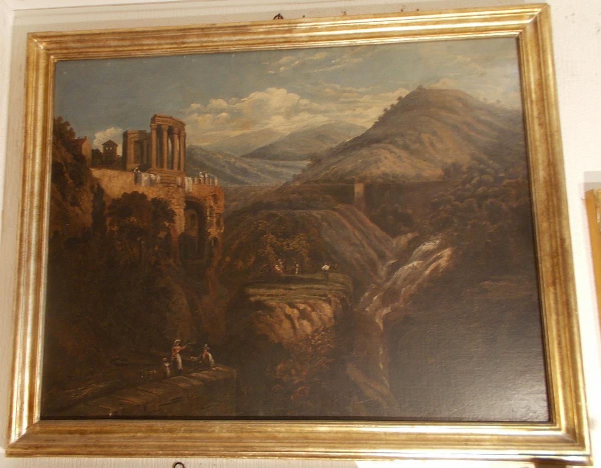 Vue du Temple de Vesta à Tivoli près de Rome 19ème siècle