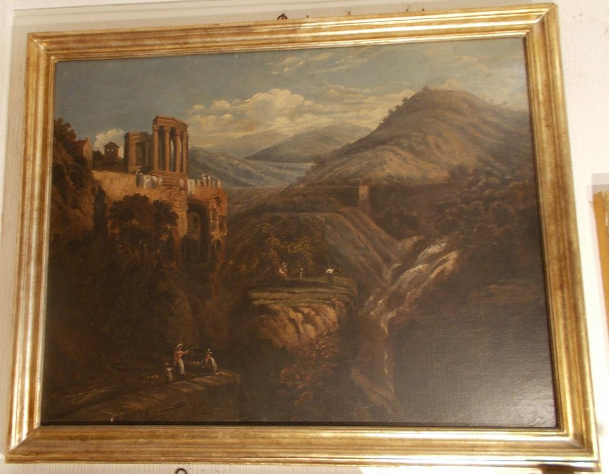 View Of The Temple Of Vesta At Tivoli Near Rome 19th Century-photo-2