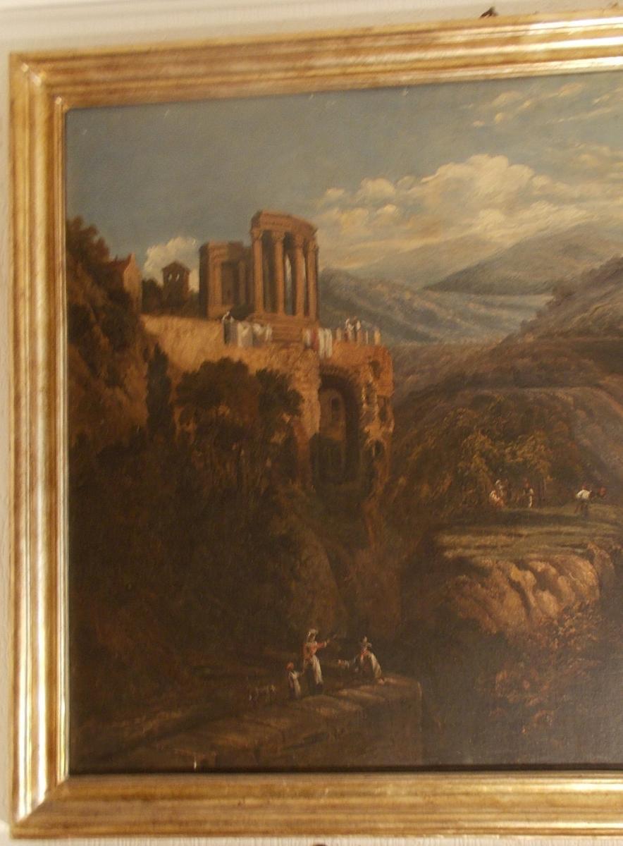 View Of The Temple Of Vesta At Tivoli Near Rome 19th Century-photo-3