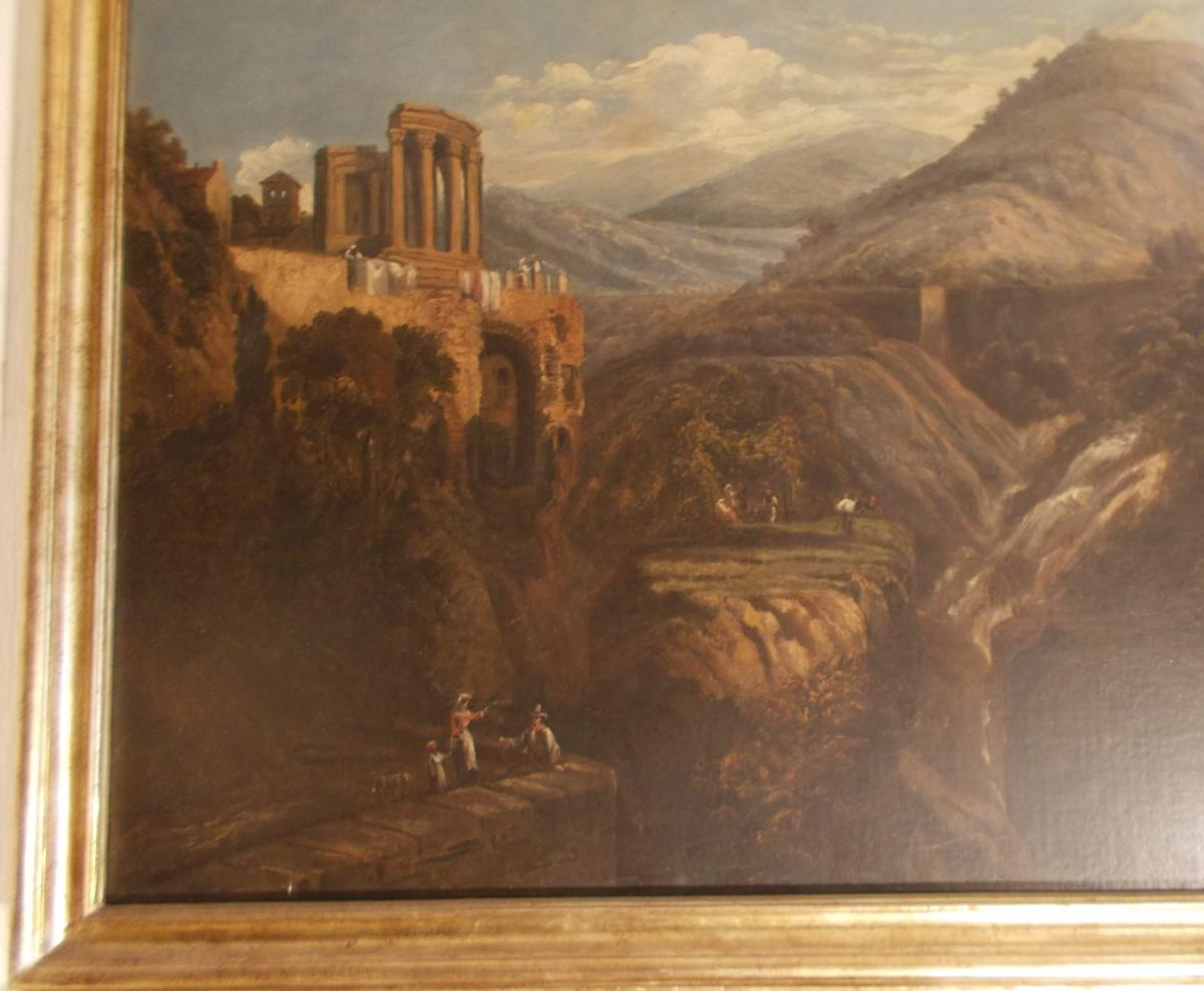 View Of The Temple Of Vesta At Tivoli Near Rome 19th Century-photo-1