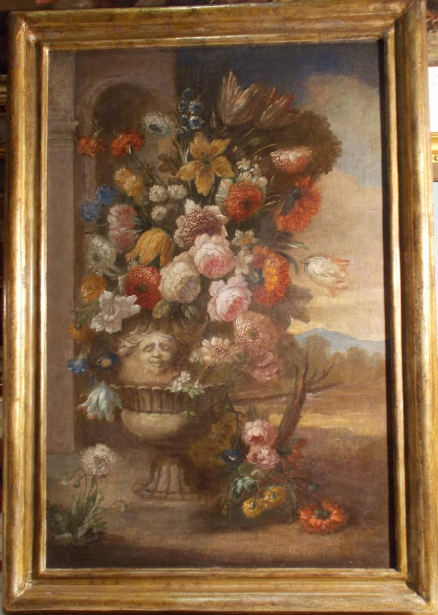 Italian School, Vase With Flowers, XVII / XVIII Century