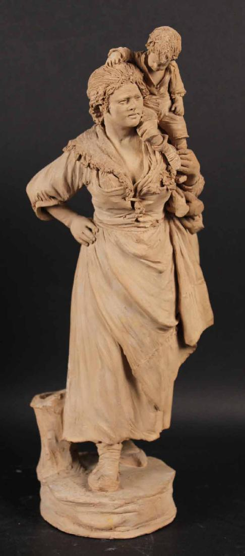 Two Terracotta Sculptures Of The 19th Century Vaccaro