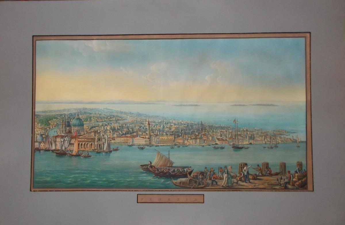 Gravure vue de Venise du 19ème siècle