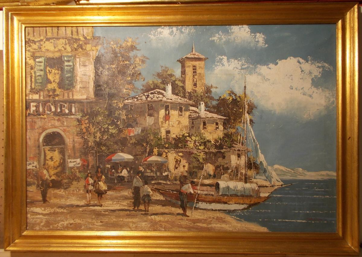 Vue d'n Lac Italien, début du 20ème Siècle.