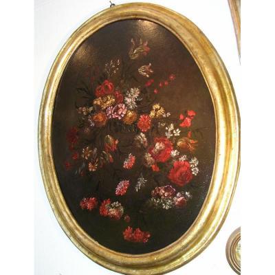 Italian School Still Life Flowers Of The XVIII Century