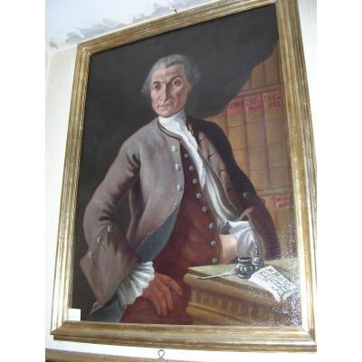 École Italienne, portrait d'un Gentleman, XVIIIe Siècle
