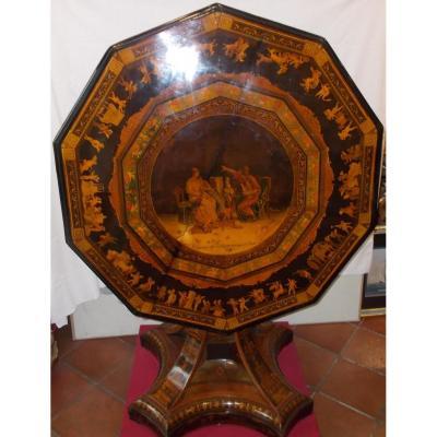 Inlaid Table Sorrento Second Half 19th Century