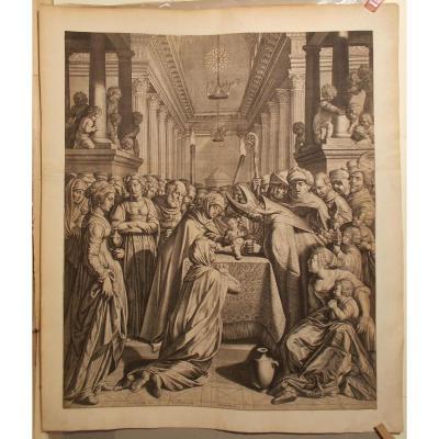 Gravure circoncision du Christ du 16/17 ème siècle