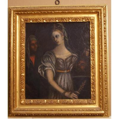 17th To 18th Painting Judith With Holofernes Head.