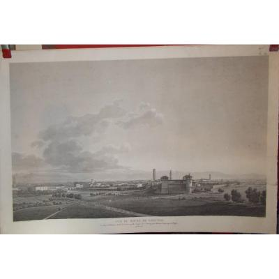 Engraving View Of Bourg Soncino Lombardy