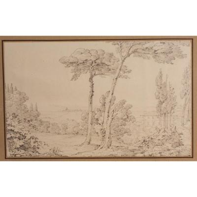 Deux dessins  au crayon sur papier  vue de William Page 1794-1872  Kingston