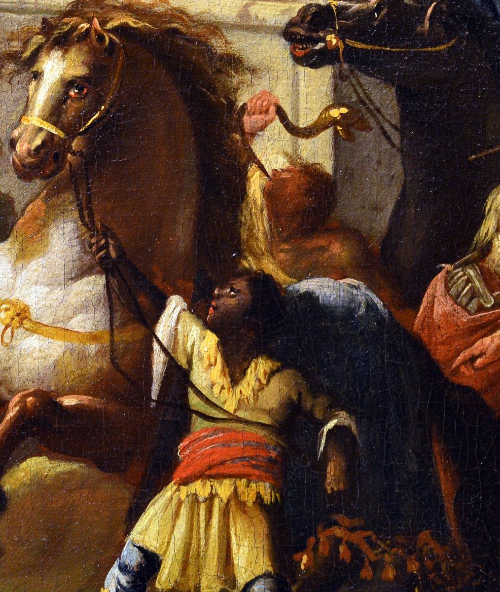 Alexandre Le Grand Au Tombeau d'Achille - Johann Heinrich Schönfeld (1609 - 1694) Signé Et Daté